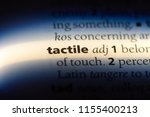 tactile word in a dictionary.... | Shutterstock . vector #1155400213