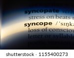 Small photo of syncope word in a dictionary. syncope concept.