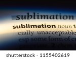 sublimation word in a... | Shutterstock . vector #1155402619