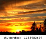 summer evening  the sun and the ... | Shutterstock . vector #1155403699