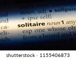 solitaire word in a dictionary. ... | Shutterstock . vector #1155406873