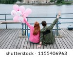 gift from boyfriend. beautiful... | Shutterstock . vector #1155406963