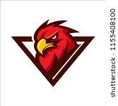 eagle head animal mascot  ... | Shutterstock .eps vector #1155408100