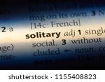 solitary word in a dictionary.... | Shutterstock . vector #1155408823