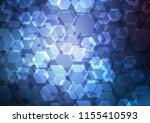 dark blue vector low poly...   Shutterstock .eps vector #1155410593
