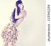portrait of a fresh beautiful... | Shutterstock . vector #115541254