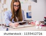 student sitting in classroom...   Shutterstock . vector #1155412726