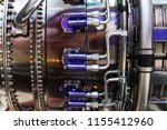 engine of fighter jet  internal ... | Shutterstock . vector #1155412960