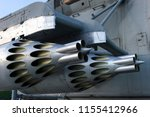 missile launcher under wing of... | Shutterstock . vector #1155412966
