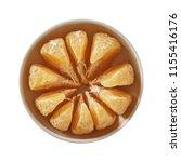 tangerine on bowl. preparing...   Shutterstock . vector #1155416176