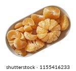 tangerine on plate.  preparing...   Shutterstock . vector #1155416233