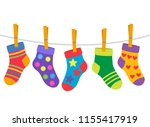 A Set Of Children\'s Socks Are...