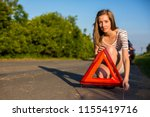 pretty  young woman setting the ... | Shutterstock . vector #1155419716