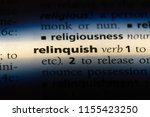 Small photo of relinquish word in a dictionary. relinquish concept.