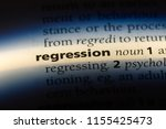 Small photo of regression word in a dictionary. regression concept.