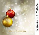 christmas greeting | Shutterstock .eps vector #115542634