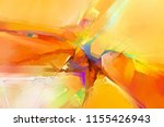 abstract colorful oil  acrylic... | Shutterstock . vector #1155426943