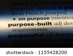 purpose built word in a... | Shutterstock . vector #1155428200