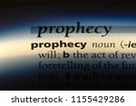 Small photo of prophecy word in a dictionary. prophecy concept.