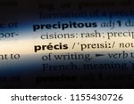 precis word in a dictionary.... | Shutterstock . vector #1155430726