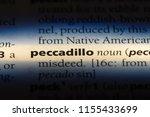 Small photo of peccadillo word in a dictionary. peccadillo concept.