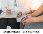 male patient having... | Shutterstock . vector #1155434956