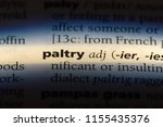 Small photo of paltry word in a dictionary. paltry concept.