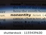 Small photo of nonentity word in a dictionary. nonentity concept.