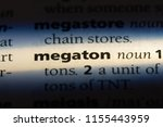 Small photo of megaton word in a dictionary. megaton concept.