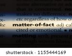 matter of fact word in a... | Shutterstock . vector #1155444169