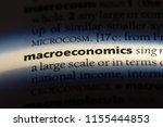 macroeconomics word in a... | Shutterstock . vector #1155444853