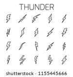 thunder related vector icon set.... | Shutterstock .eps vector #1155445666