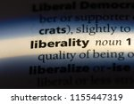Small photo of liberality word in a dictionary. liberality concept.