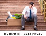 young businessman on the street ... | Shutterstock . vector #1155449266