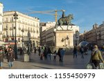 madrid  spain   january 23 ... | Shutterstock . vector #1155450979