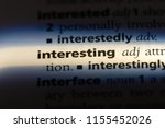 interesting word in a... | Shutterstock . vector #1155452026