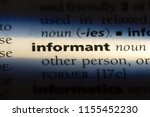 informant word in a dictionary. ... | Shutterstock . vector #1155452230
