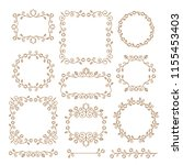 vintage ornaments and dividers. ... | Shutterstock .eps vector #1155453403