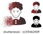 brunette woman icon with face... | Shutterstock .eps vector #1155462409