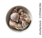 garlic in wood spoon. preparing ...   Shutterstock . vector #1155466186