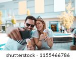young man with sunglasses is... | Shutterstock . vector #1155466786