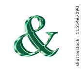 shiny green glass ampersand or... | Shutterstock . vector #1155467290