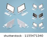 isometric vector desktop... | Shutterstock .eps vector #1155471340