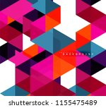 multicolored triangles abstract ... | Shutterstock .eps vector #1155475489
