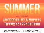 vector summer font made of sun... | Shutterstock .eps vector #1155476950