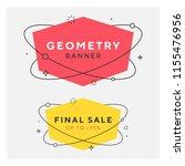set of trendy flat geometric... | Shutterstock .eps vector #1155476956
