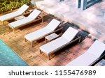 blank white loungers mock up...   Shutterstock . vector #1155476989