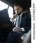 businessman working with laptop ... | Shutterstock . vector #1155481399