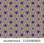 classic golden pattern. golden... | Shutterstock . vector #1155485803