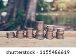 money  coins growing concept... | Shutterstock . vector #1155486619